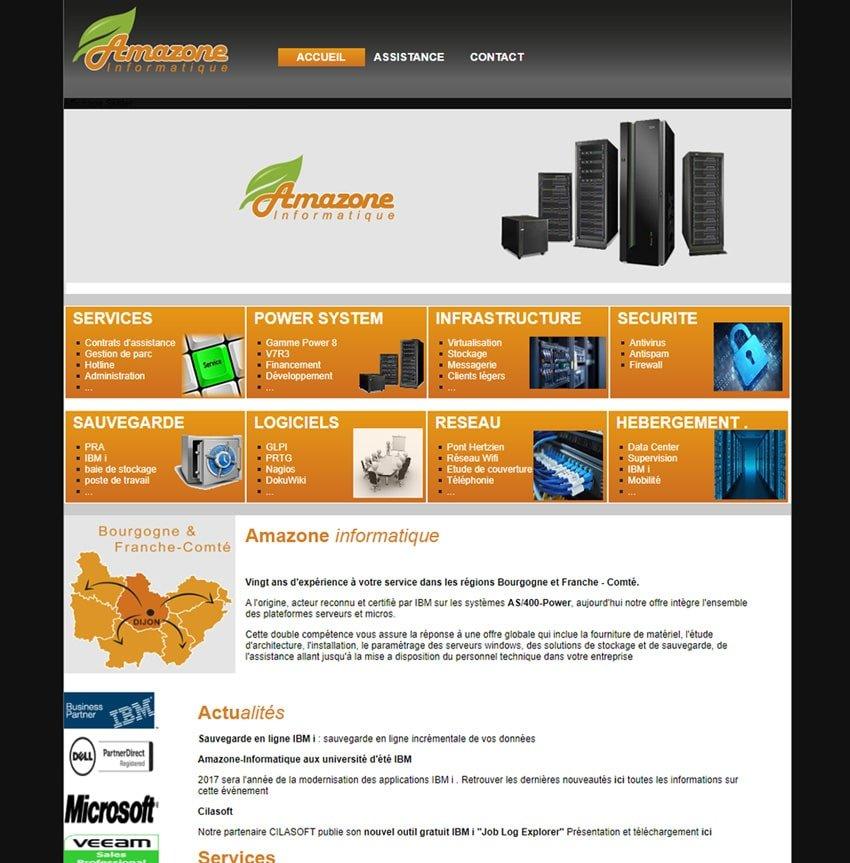 Site web avant